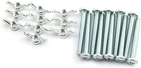 Karcy 200Pair Plastic Cross Hand Tighten The Set Screws and Nut Set M4x10mm