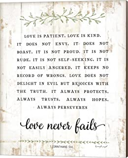 Best love is patient canvas wall art Reviews
