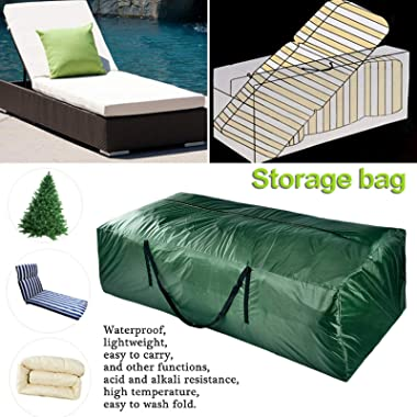 GoldCistern Storage Bag for Outdoor Furniture Cushions, Waterproof Patio Storage Box, Protective Zippered Storage Bags