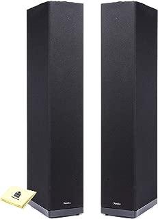 Definitive Technology BP6B Floor Speaker Tower Loudspeaker (Pair) with Full-Range Bipolar (Front and Rear) Speaker Technology Home Speakers Bundle with Zorro Sounds Speaker Cloth - Piano Gloss Black