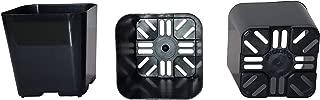 50-Pack, Water Dance Square Plastic Pots for Plants, 2-Inch. Color: Black
