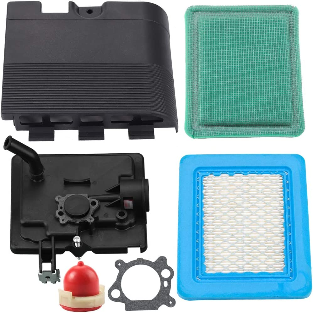 Leopop 795259 Air Cleaner Primer Base with 692298 Cover 491588S Air Filter Compatible with BS MTD Troy Bilt Lawn Mower