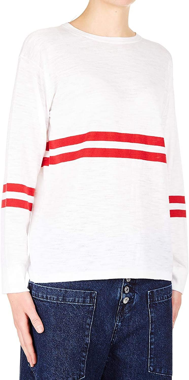 360Sweater Women's 37712SADEEWHITE White Cotton Sweater