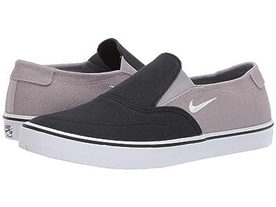 Nike SB Portmore II Solarsoft Slip (Black/White/Atmosphere Grey) Men