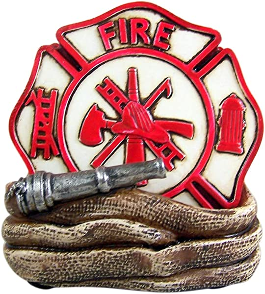 Fire Department Coaster Set And Holder Includes 4 Coasters