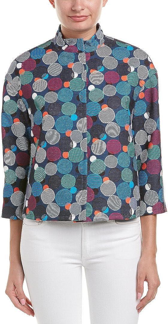 Anne Max 87% OFF Klein Women's Award-winning store Jacket Flyaway Printed