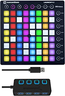 Novation Launchpad MK2 Ableton Live Controller with 4-Port 3.0 USB HUB