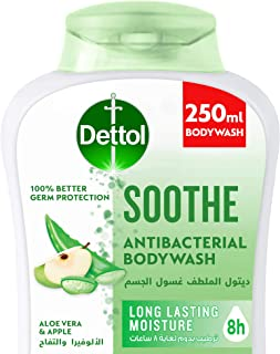 Dettol Soothe Showergel & Bodywash for effective Germ Protection & Personal Hygiene (protects against 100 illness causing ...