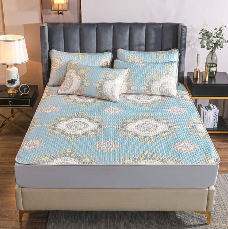 Summer sleeping mat sheets thickened printing feeling silk cool Dedication Max 60% OFF