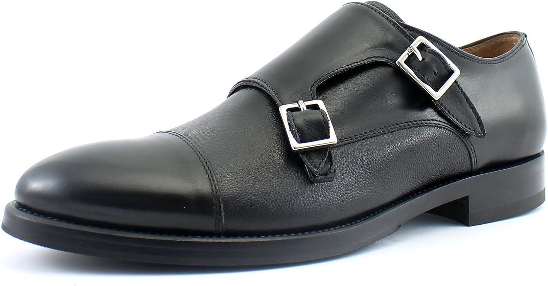 Giorgio Rea herrar skor Double Monk Strap Strap Strap Modell Genuine läder Handdad in  svart Färg Storlek UK 6 7 8 9 10 11 Oxfords  preferentiell