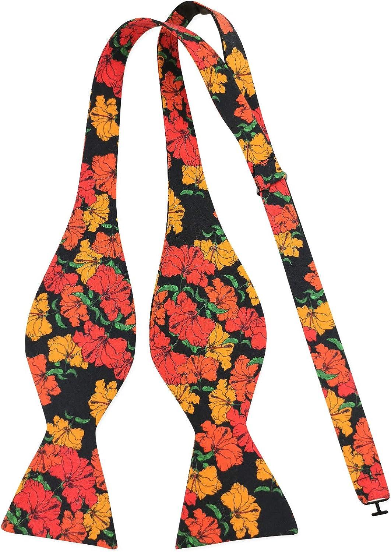 Men's Floral Rose Cotton Bow Tie Self Bowtie Singing Birds Fragrant Flowers Bow Tie