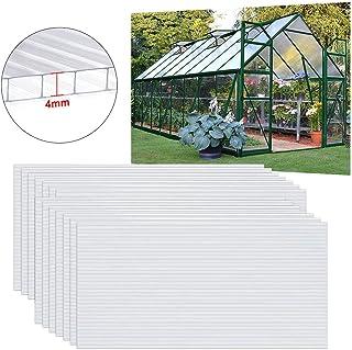 comprar comparacion UISEBRT - 14 placas huecas transparentes de policarbonato UV de 60,5 x 121 cm para jardín, invernadero, placas de repuesto...