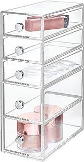 InterDesign Drawers tour de rangement, rangement salle de bain en plastique avec 5 tiroirs, boite rangement pour cosmétiqu...