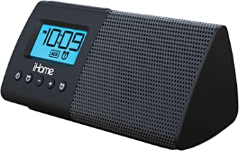 iHome iHM46BC Portable USB Charging Dual Alarm Clock Speaker System - Black