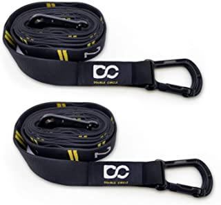 Double Circle Numbered Straps, Wood Gymnastic Rings, and Exercise Videos Guide for Gym, Crossfit, and Bodyweight Training (Variations)
