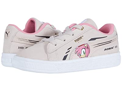 Puma Kids Sega Suede Sonic AC (Toddler) (Rosewater) Girls Shoes