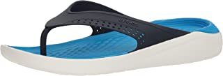 Crocs Unisex's LiteRide Navy/White Flip Flops Thong Sandals-10 UK (M11)(11 US) (205182-462)