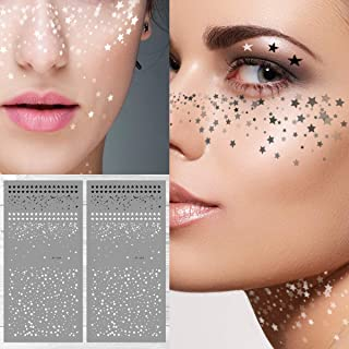 Supperb Temporary Tattoos - Stars Freckles Face Tattoos Freckle Temporary Tattoos (Set of 2)