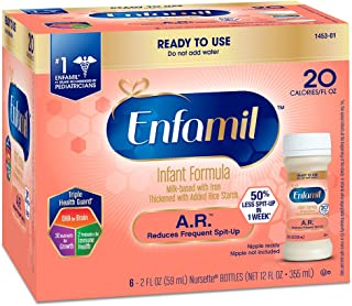 Enfamil A.R. Infant Formula for Spit Up, Ready to Use, 6 Count