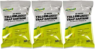 RESCUE! Yellowjacket Attractant Cartridge (10 Week Supply) – for RESCUE! Reusable Yellowjacket Traps - (3 Pack)