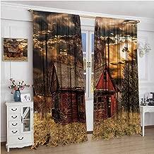 NUOMANAN Insulated Sunshade Curtain,Scenery Horror Movie Theme,Darkening and Thermal Insulating Draperies,54 x 84 inch