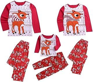 Pijamas de Navidad Familia Conjunto Pantalon y Casual Camisa para Mujer Hombre Niños Niñas 24 Meses-6 Años Sudadera Chándal Suéter Fannyfuny