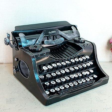 LMIM Modelo de máquina de Escribir Manual clásico Vintage, máquina de Escribir Antigua de decoración para el hogar/Oficina/Escritorio de la Sala de ...