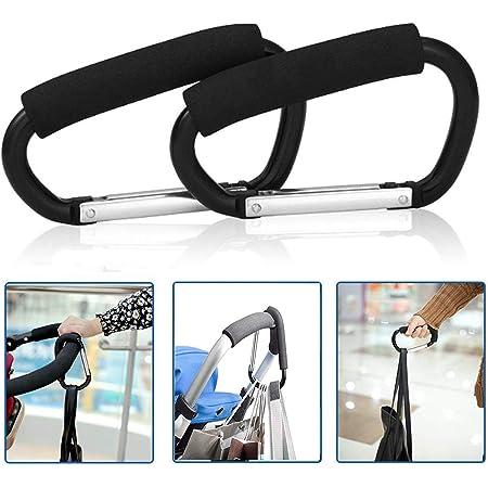 Practical Baby Carriage Bag Hook Wheelchair Stroller Carabiner Clip Bag Hook ONE