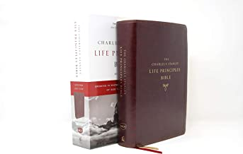 NKJV, Charles F. Stanley Life Principles Bible, 2nd Edition, Leathersoft, Burgundy, Thumb Indexed, Comfort Print: Growing in Knowledge and Understanding of God Through His Word