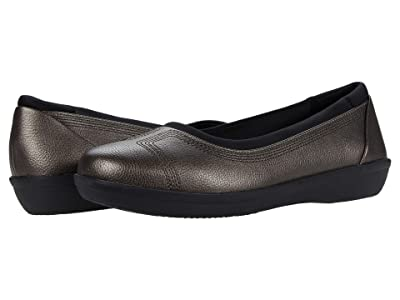 Clarks Ayla Low (Dark Pewter Synthetic) Women