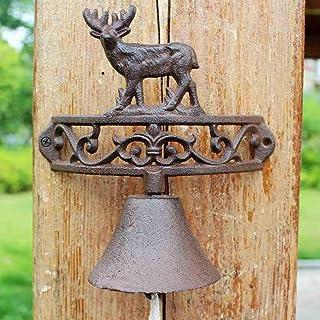 Iron Elk Doorbell Garden Vintage Cast Iron Bell Handmade Garden Wind Chimes 21x12x21cm Cast Iron doorbell
