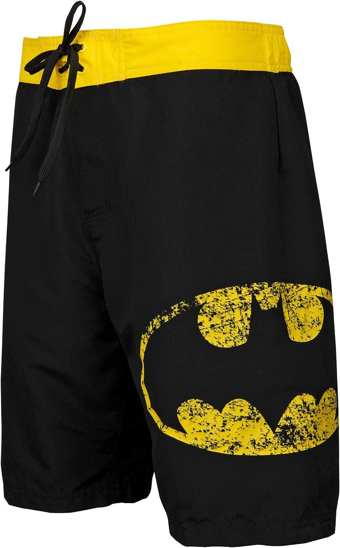 Underboss Batman Symbol Heather Black Board Shorts