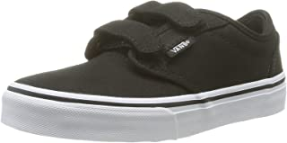 Vans Kids Atwood Canvas Strap Fasten Shoes Black White Size 11.5