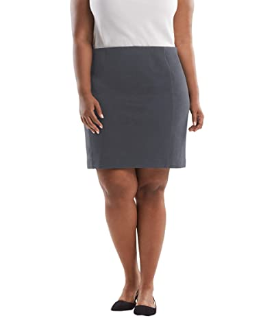 M.M. LaFleur Plus Size Crosby Skirt Textured Ponte (Charcoal) Women