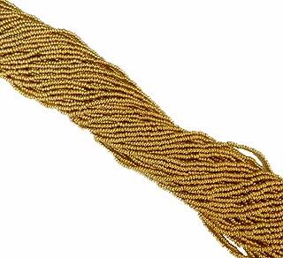 Metallic Gold Czech 11/0 Glass Seed Beads 1 Full Hank Preciosa
