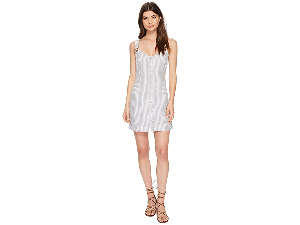 Free People Living Color Mini Dress (Grey Combo) Women