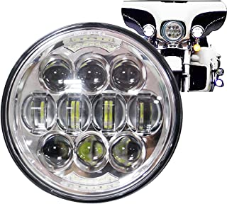 COWONE 80W Motorcycle 5-3/4 5.75 LED Headlight for Motorbike Headlamp Projector Driving Light