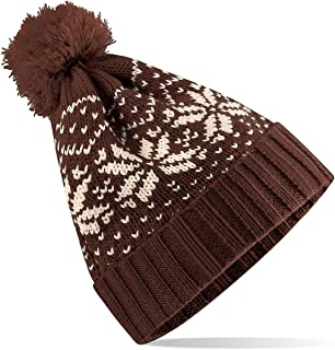 HÖTER Winter Hats Adult Unisex Hats Knitted Skull Beanie