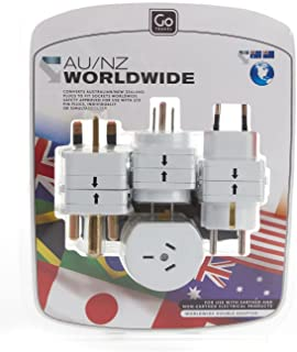 Go-Travel World Wide Double Adaptor, White, 090