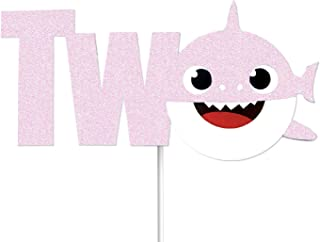 OMG Party Factory - Cute Shark Baby Cake Topper 2nd Birthday