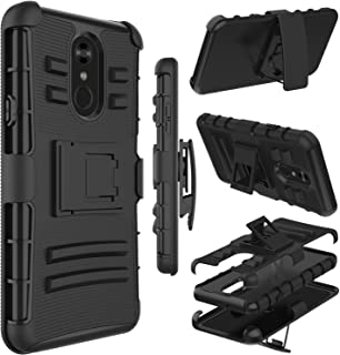 LG Stylo 4 Case, LG Stylo 4 Plus Case, Zenic Heavy Duty Shockproof Full-Body Protective Hybrid Case Cover with Swivel Belt Clip and Kickstand for LG Q Stylus/LG Stylus 4 (Black)