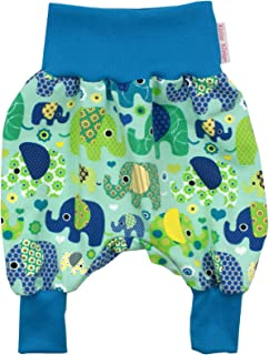 Aqua /· /Ökotex 100 Zertifiziert /· Gr/ö/ßen 50-128 Kleine K/önige Pumphose Baby Jungen Hose /· Modell Winter Fuchs und Hase gr/ün
