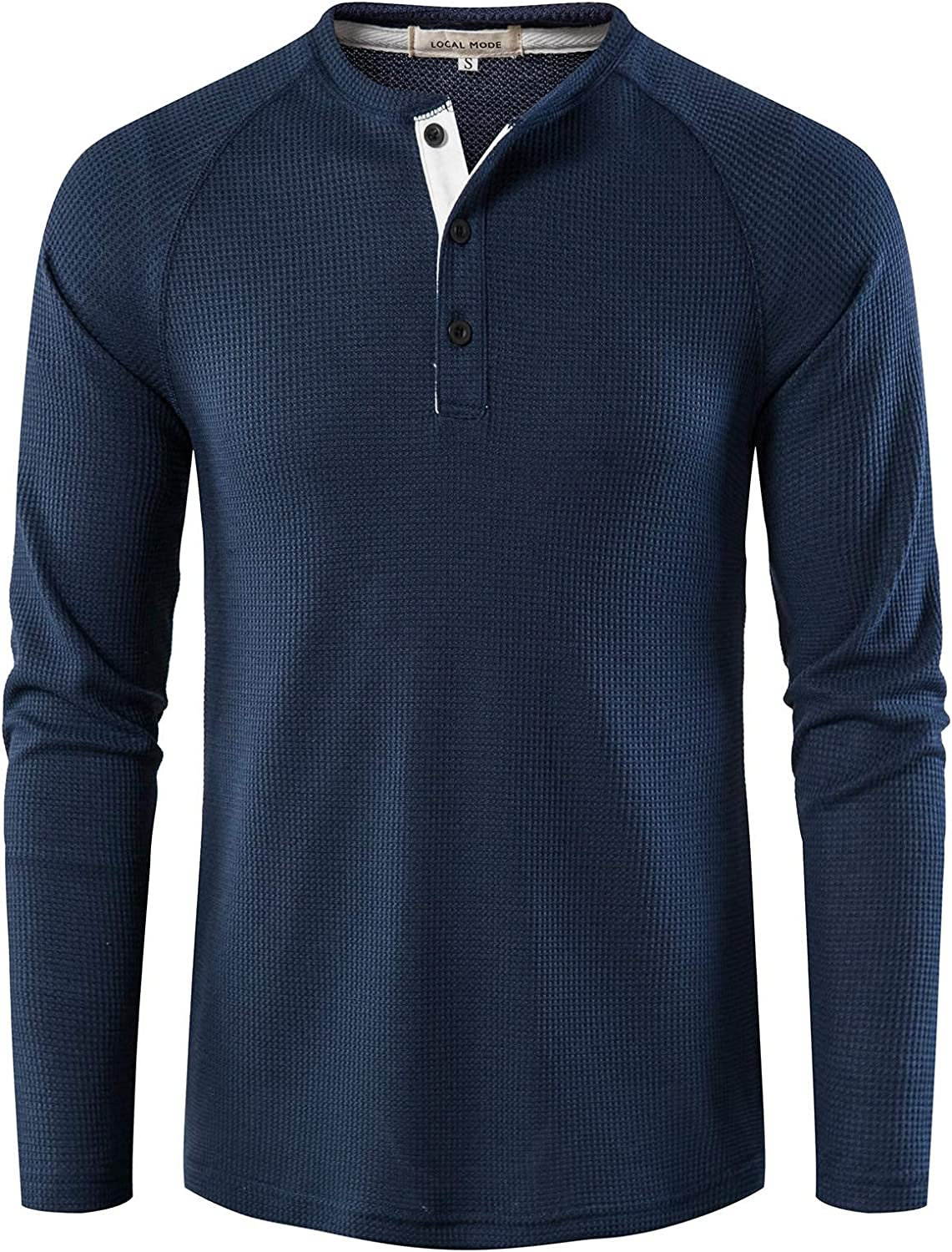 Casual Henley Shirt Long Sleeve 3 Buttons Tee Shirts Big and Tall Big Fashion Slim Cotton Tops for Men