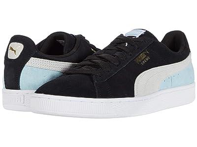 PUMA Suede Classic (Puma Black/Puma White/Aquamarine) Shoes