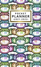 Pocket Planner 2021-2022: Two-Year 24 Month Organizer Calendar Agenda with Vision Boards and Notes. Funny Monkey Smiley Face.