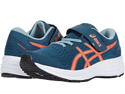 ASICS Kids Patriot 12 (Toddler/Little Kid) (Magnetic Blue/Sunrise Red) Boys Shoes