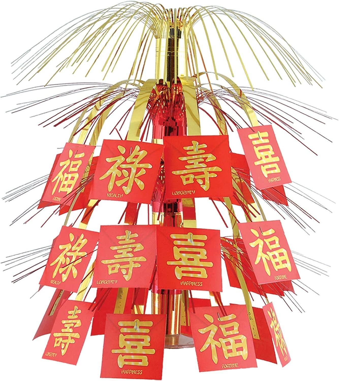 COOLMP Set di 6 centrossoavola Cinese, Taglia Unica, Decorazione e Accessori per Feste, Animazione, Compleanno, Matrimonio, Eventi, Giocattoli, Ptuttioncino