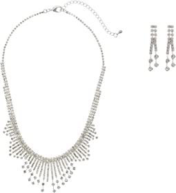 Art Deco Burst Collar Necklace w/ Earrings