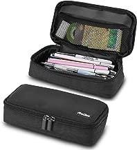 ProCase Pencil Bag Pen Case, Large Capacity Students Stationery Pouch Pencil Holder Desk Organizer, Portable Pencils Pens Pouch for School & Office Supplies –Black