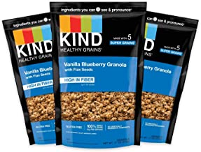 product image for KIND Healthy Grains Granola Clusters, Vanilla Blueberry with Flax Seeds, Gluten Free, 11 Ounce Bags, 3 Count